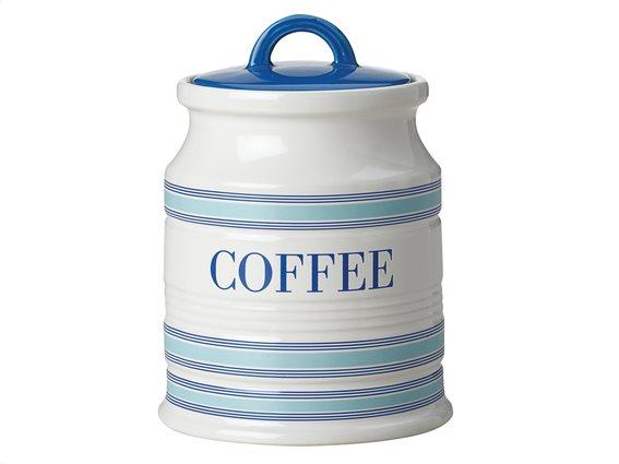 """Maxwell & Williams Δοχείο Κεραμικό """"Coffee"""" Λευκό-Μπλε 500ml. Coastal Stripes"""