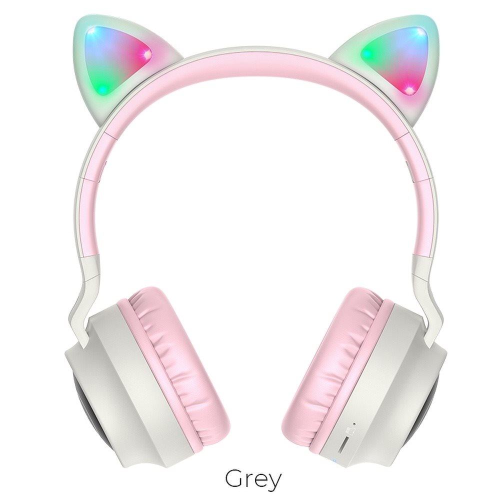 HOCO W27 Wireless Ακουστικά Stereo  Cat ear 300mAh Micro SD και AUXΑ