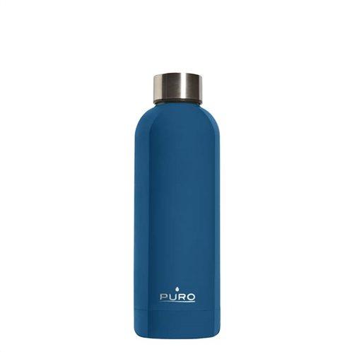 PURO Μπουκάλι Hot & Cold Double Wall 500ml - Σκούρο Μπλε