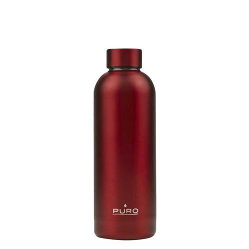 PURO Μπουκάλι Hot & Cold Double Wall 500ml - Κόκκινο