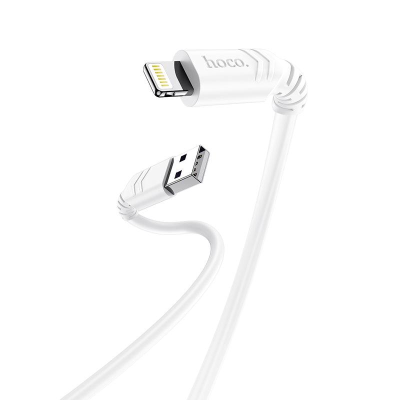 HOCO X62 Fortune Καλώδιο Φόρτισης USB to Lightning Λευκό 1m 2,4Α