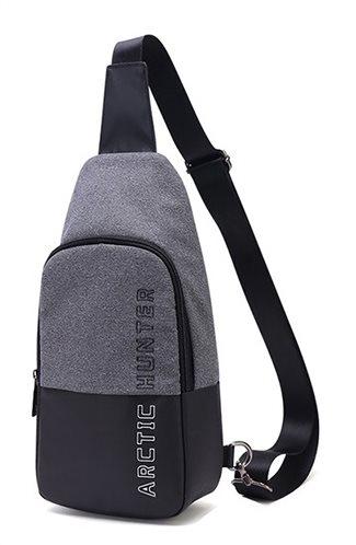 ARCTIC HUNTER τσάντα Crossbody XB0058-DG αδιάβροχη σκούρο γκρι