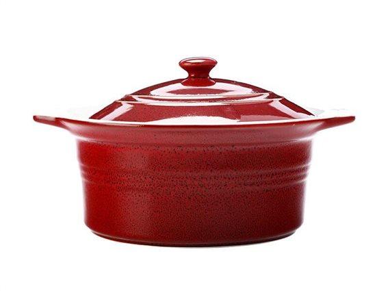 Maxwell & Williams Πυρίμαχη Κατσαρόλα με Καπάκι Cucina 2,4L Κόκκινη