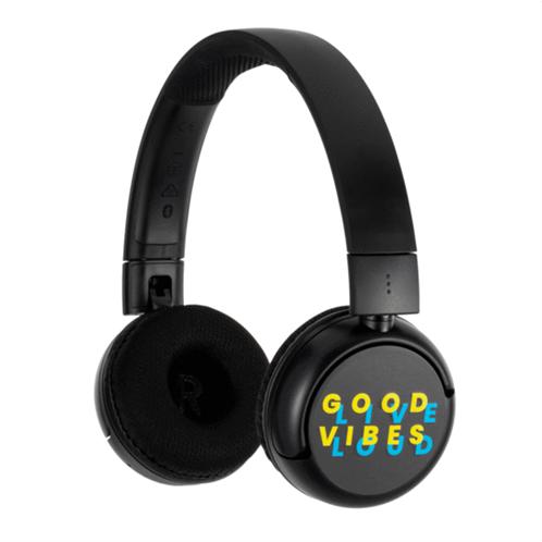 BuddyPhones Wireless Headset POP  - BLACK