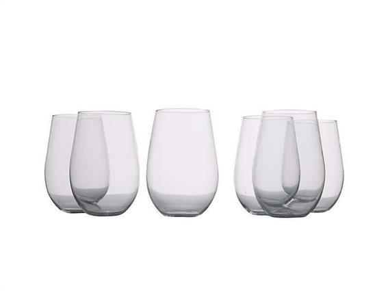 Maxwell & Williams Ποτήρια Κόκκινου Κρασιού Χωρίς Πόδι Mansion 580ml - Σετ 6τεμ
