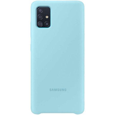 Samsung Silicone Cover A51 Blue
