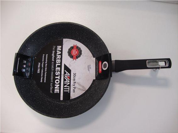 Τηγάνι Αντικολλητικό Μαύρο Marblestone Cookshop 30cm