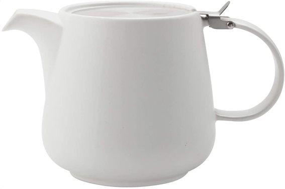 Maxwell & Williams Τσαγιέρα Λευκή με Ανοξείδωτο Φίλτρο & Καπάκι Tint 1,2lt