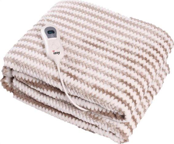 Izzy Ηλεκτρική Κουβέρτα Ημίδιπλη Πλενόμενη 120W 130x180cm Καφέ Cosy με 3 Βαθμίδες Θέρμανσης