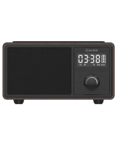 AvLink Bluetooth Φορητό Ηχείο Με Ρολόι Ραδιόφωνο Και Βάση Ασύρματης Φόρτισης Fusion 120.220UK