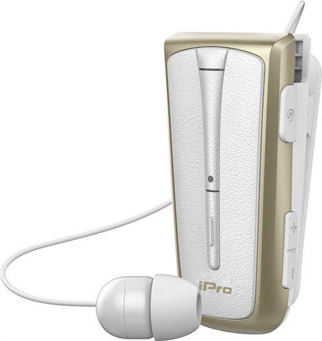 iPro Στερεοφωνικό Ακουστικό Bluetooth Retractable Με Δόνηση RH219s Λευκό Χρυσό
