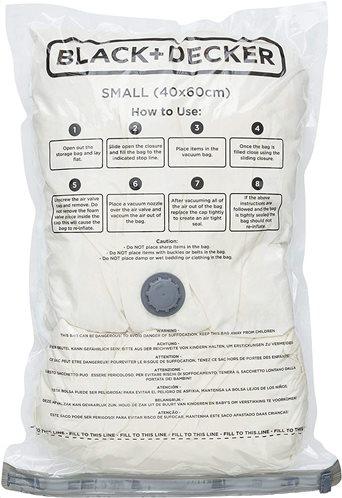 Black+Decker Storage Bag Vacuum 40x60cm