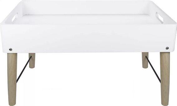 Gusta Lifestyle Πτυσσόμενο Τραπεζάκι Vintage 47.8x31x26.6cm 00094211 Λευκό