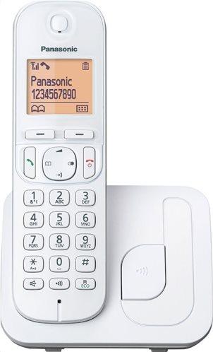 Panasonic Ασύρματο Τηλέφωνο KX-TGC210GRW Λευκό