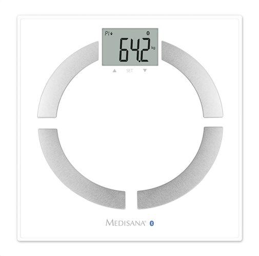 Medisana Ψηφιακή Ζυγαριά με Λιπομετρητή 30 Μετρήσεις Bluetooth BS 444 Connect με 8 Μνήμες 180kg Λευκή