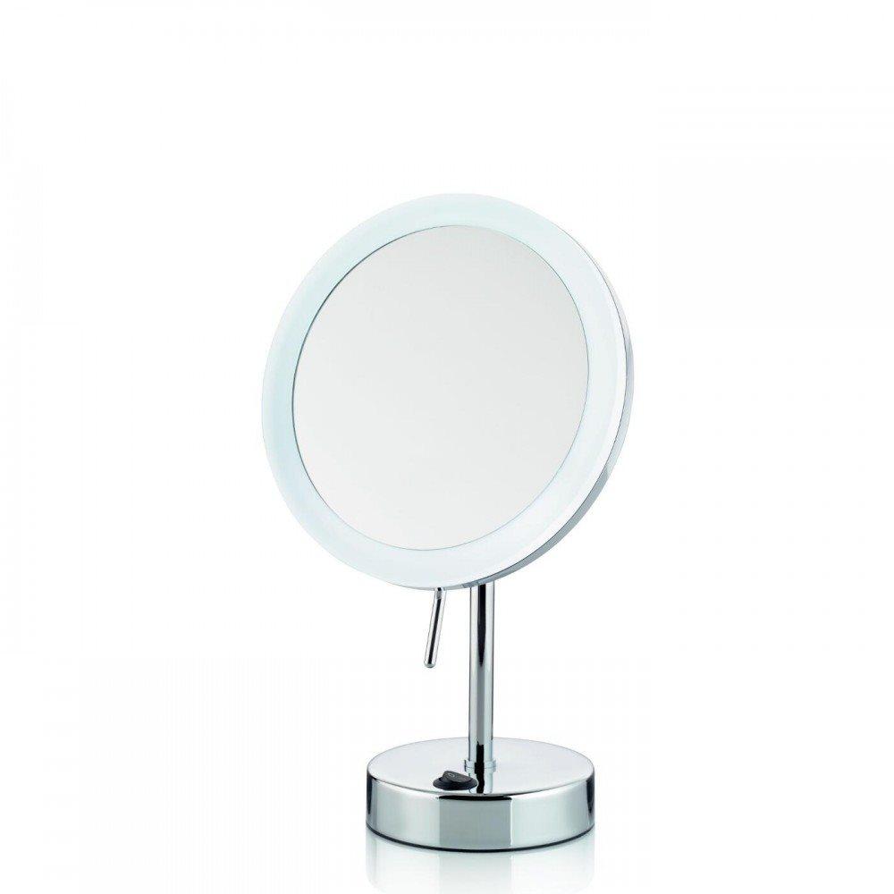 Kela Όρθιος καθρέφτης μπάνιου μεταλλικός με LED λευκό φωτισμό 31,5 x 12cm Sabina