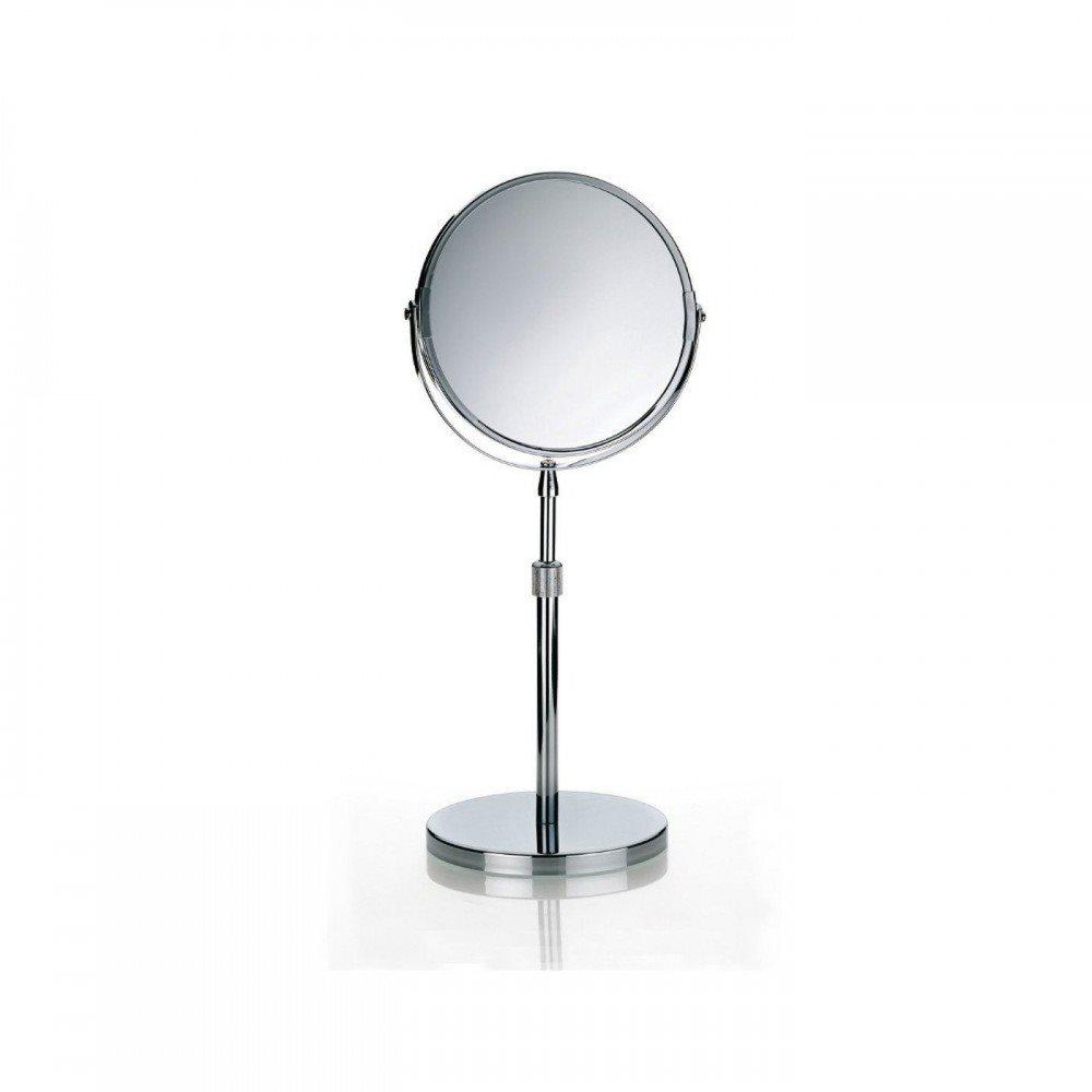Kela Όρθιος καθρέφτης μπάνιου μεταλλικός 15 x 37.5 έως 50cm σειρά Silvana
