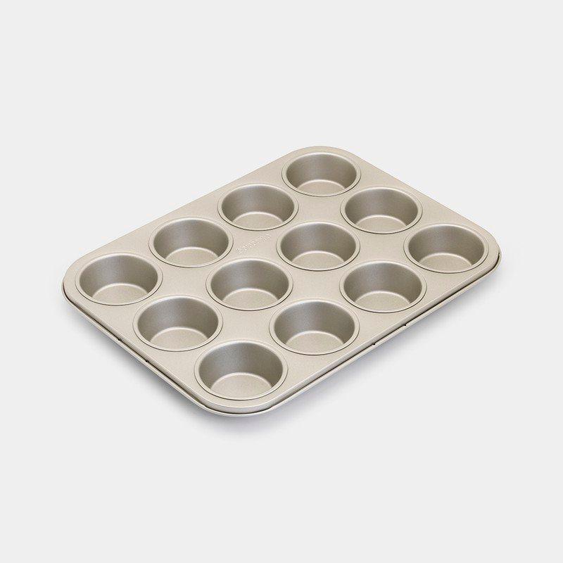 Brabantia Φόρμα για 12 Muffins Αντικολλητική Champagne