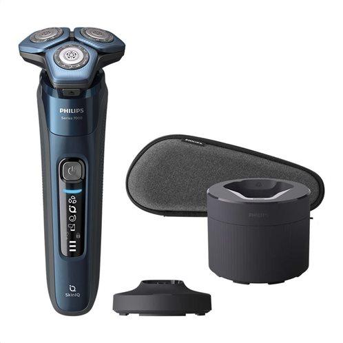 Philips Ξυριστική Μηχανή Προσώπου Επαναφορτιζόμενη Wet & Dry S7786/55 Blue Black