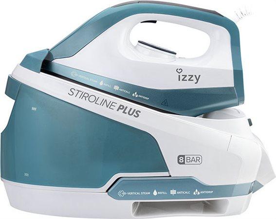 Izzy Σύστημα Σιδερώματος Πίεσης 8bar με Δοχείο 1800ml Optimum Plus 2400W