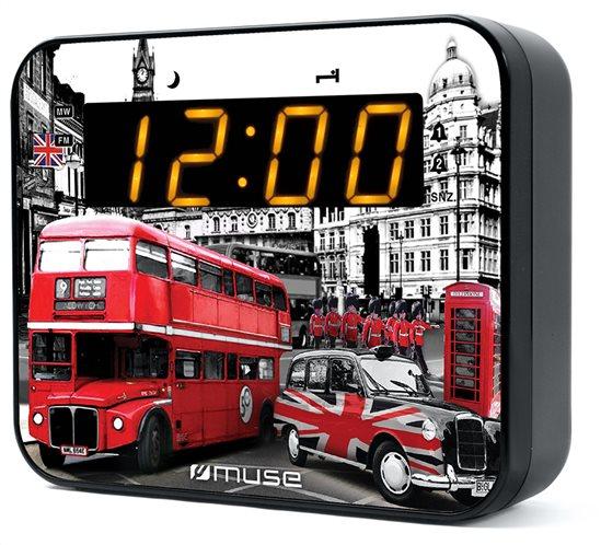 Muse Επιτραπέζιο Ψηφιακό Ραδιορολόι Μπαταρίας-Ρεύματος M-165LD