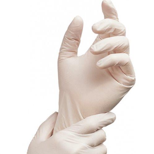 Γάντια Latex Large Λευκά 100τμχ