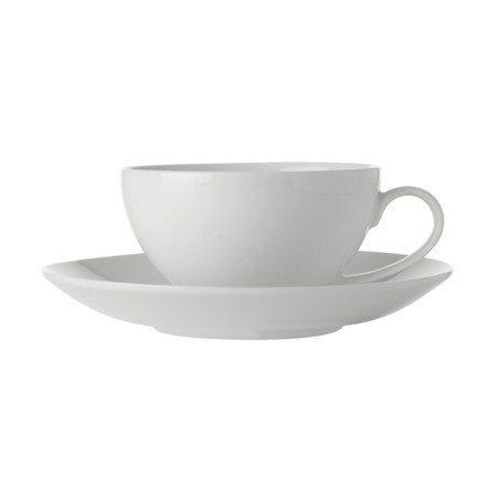 Maxwell & Williams Φλυτζάνι Καφέ/Cappuccino Coupe 250ml & Πιατάκι White Basics