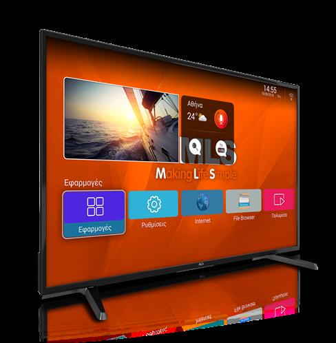 "MLS SuperSmartTV 43"" Τηλεόραση Full HD Smart TV 2018 DVB-T2 με Android"