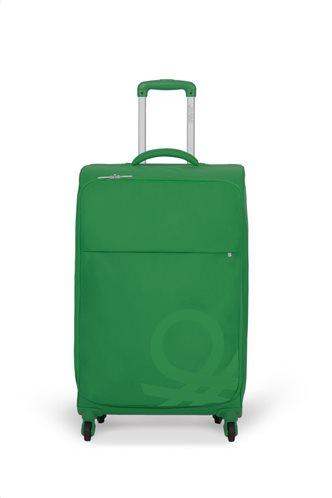 Benetton Βαλίτσα Τrolley Mεσαία BLOW 70x43x27cm Πράσινη