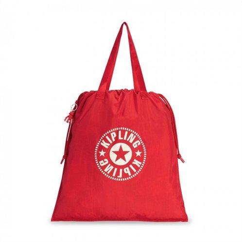 Kipling Τσάντα Ώμου Πτυσσόμενη με κορδόνι Hiphurray L Lively Red