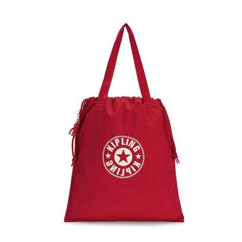 Kipling Τσάντα Ώμου Πτυσσόμενη με κορδόνι Hiphurray Lively Red