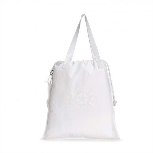 Kipling Τσάντα Ώμου Πτυσσόμενη με κορδόνι Hiphurray Lively White