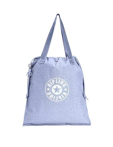 Kipling Τσάντα Ώμου Πτυσσόμενη με κορδόνι Hiphurray Timid Blue