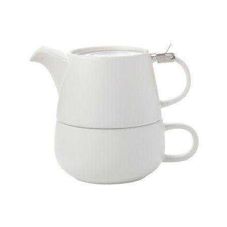 Maxwell & Williams Tea For One Κεραμικό Λευκό Tint Φλιτζάνι με Τσαγιέρα 450ml