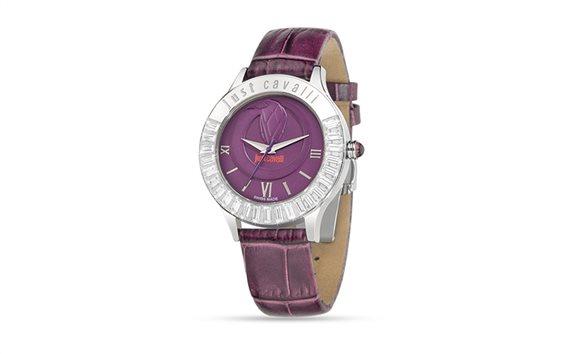 Γυναικείο Ρολόι Luminal Violet Dial Strap, Just Cavalli  R7251597503