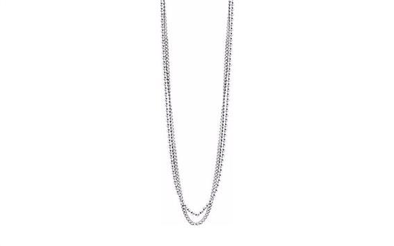 Αντρικό Κόσμημα Κολιέ 57cm από Ανοξείδωτο Ατσάλι και διπλή σειρά χάντρες, Guess UMN21509