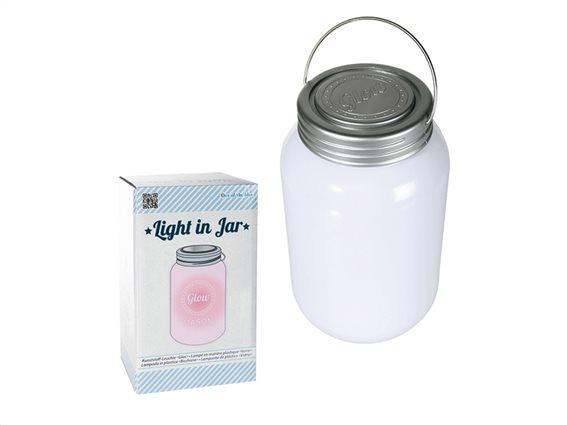 Out Of The Blue Φωτιστικό LED Βάζο 18.5x10.5cm με Καπάκι, Λαβή και Εναλλασόμενο χρωματιστό Φως, 57/9636