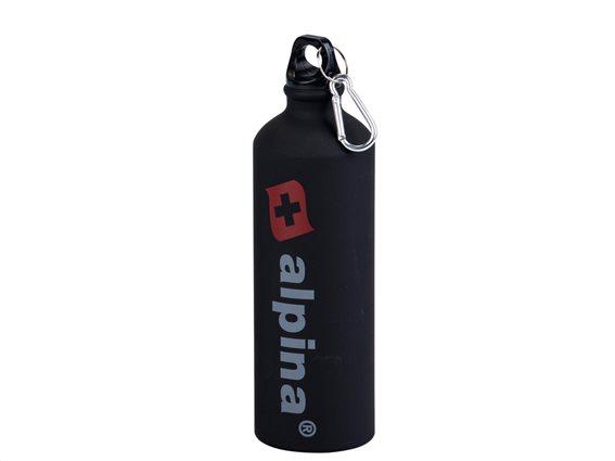Alpina Switzerland Αλουμινένιο Μπουκάλι Παγούρι 750ML, 22898 Μαύρο