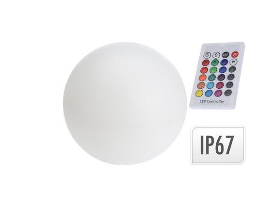 Αδιάβροχο Φωτιστικό Λάμπα LED Στρογγυλό 30cm διαμέτρου με Τηλεκοντρόλ και αλλαγή 7 χρωμάτων