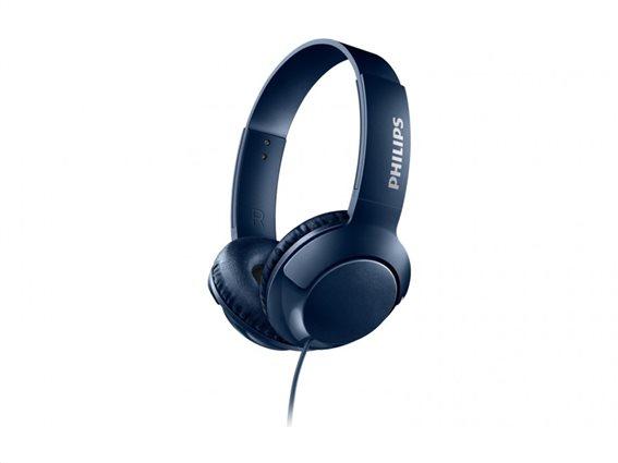 Philips Ακουστικά Κεφαλής SHL3070BL Μπλε
