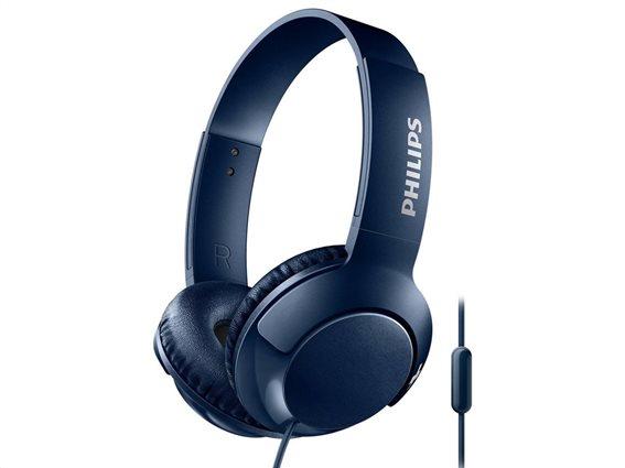 Philips Ακουστικά Κεφαλής SHL3075BL Μπλε