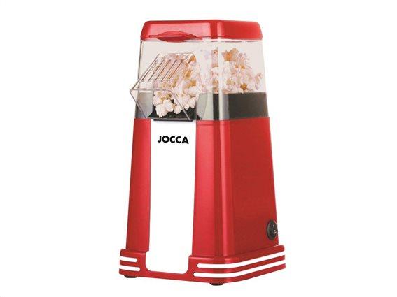 Jocca Συσκευή Παρασκευής Πόπ Κόρν 1200W Pop Corn Maker σε Κόκκινο χρώμα, 15.5x10.5x29.5cm, 5617