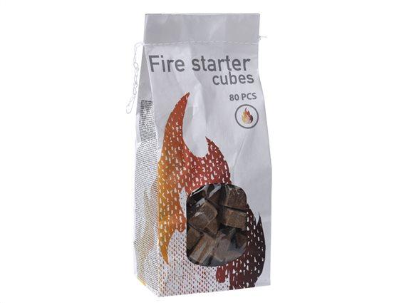 Προσάναμμα για Τζάκι, Ψησταριά και Μπάρμπεκιου 80 τεμ.,BBQ Fire Starter cubes FS3000020