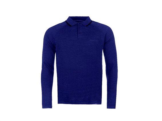 Pierre Cardin Ανδρική Πλεκτή Μπλούζα Polo με Μακρύ Μανίκι, Γιακά σε χρώμα Royal Blue