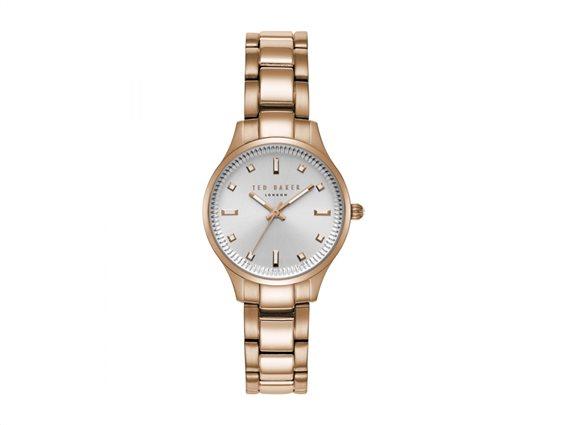 Ted Baker Γυναικείο ρολόι χειρός 31mm και μπρασελέ σε χρυσό χρώμα, Zoe Collection, TE50006001