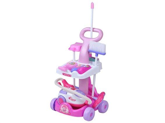 Iso Trade Παιδικό Καροτσάκι καθαρισμού παιχνιδιών με Αξεσουάρ για ηλικίες 3 και άνω