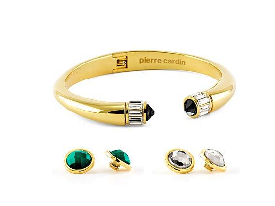 Pierre Cardin PXB5741 Βραχιόλι σε Χρυσό χρώμα, με πέτρες Swarovski σε 3 διαφορετικά χρώματα