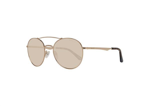 Gant Γυναικεία Γυαλιά Ηλίου με Χρυσό Μεταλλικό σκελετό με Καφέ Φακό με 100% προστασία UV