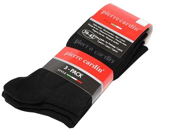 Pierre Cardin Ανδρικές Κάλτσες σετ 3 ζευγαριών σε Μαύρο Χρώμα Νο 39-42