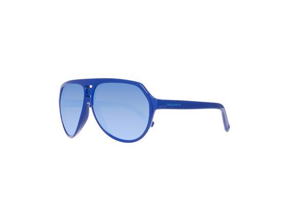 DSQUARED2 Unisex Γυαλιά Ηλίου με Κοκάλινο Σκελετό Aviator σε Μπλε Χρώμα και προστασία 100% UVA